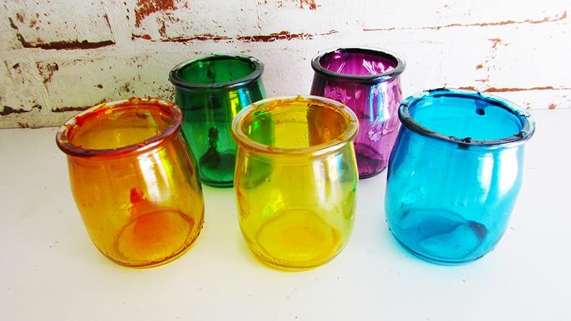 Botes de cristal pintados