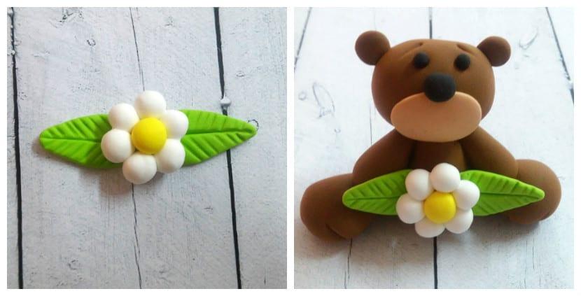 oso con flor
