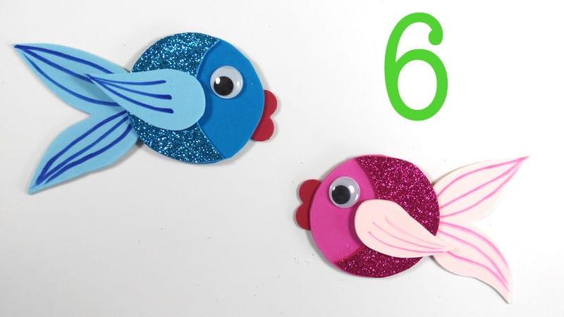 Peces de goma eva infantiles for Como hacer una granja de peces