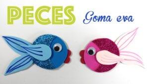 como hacer peces de goma eva
