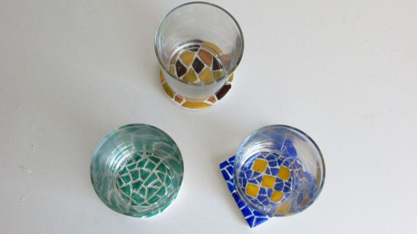 Posavasos con mosaicos