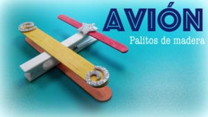 avion con palitos de madera donlumusical