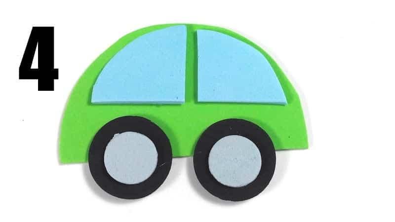 coches marcapaginas de goma eva