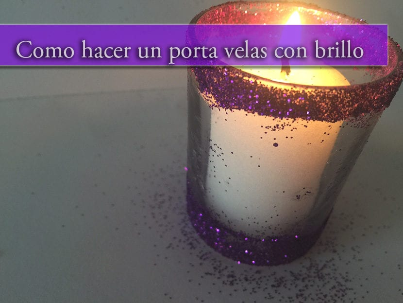 como hacer un porta velas con brillo
