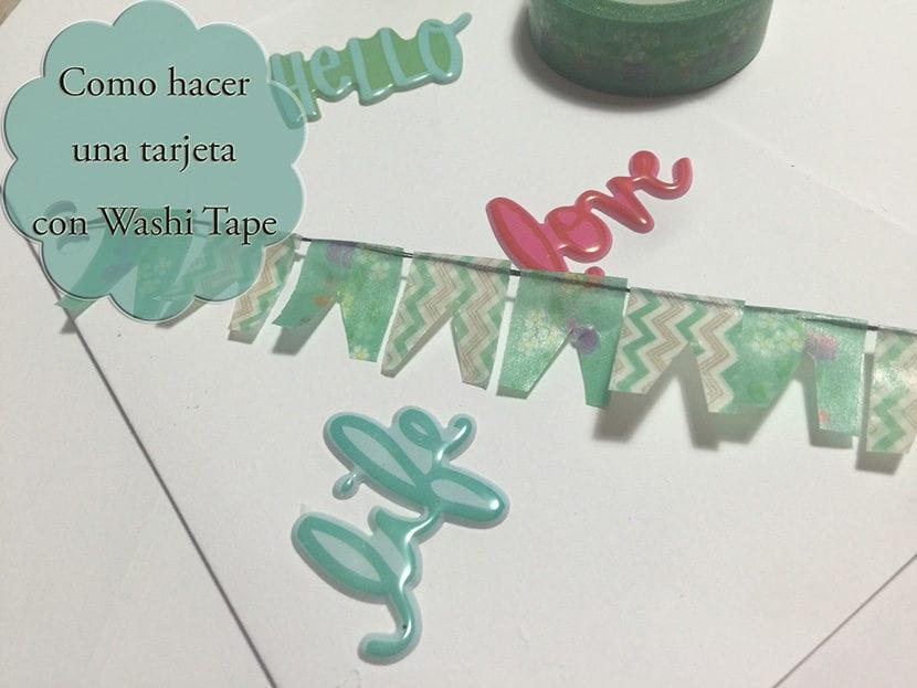 como hacer una tarjeta con washi tape
