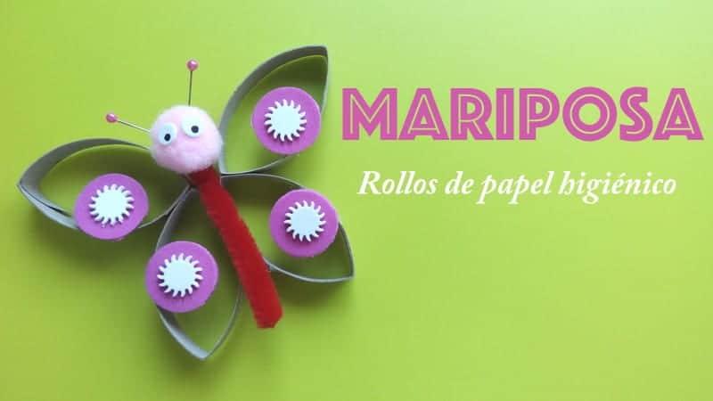 Mariposa con rollos de papel higinico