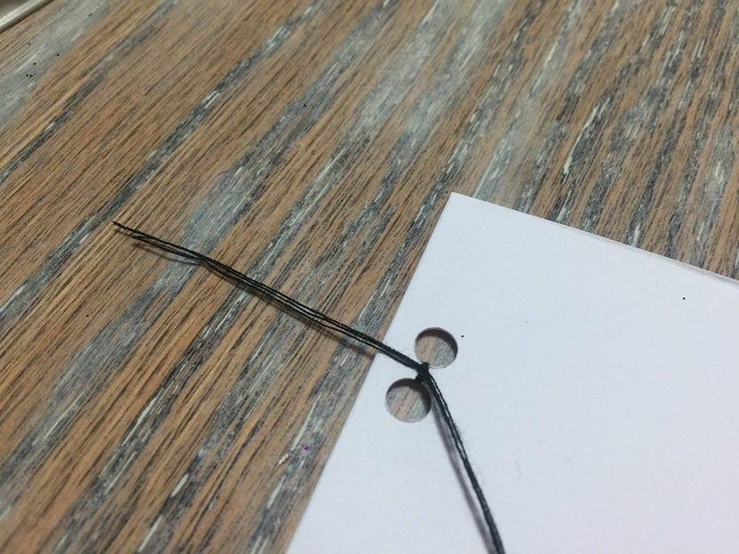 paso 3 tarjeta con washi tape