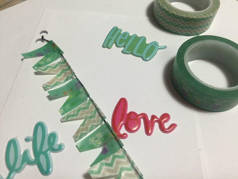 paso 5 tarjeta con washi tape