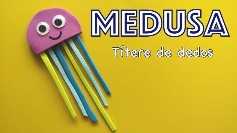 tittere de dedos marioneta medusa goma eva donlumusical