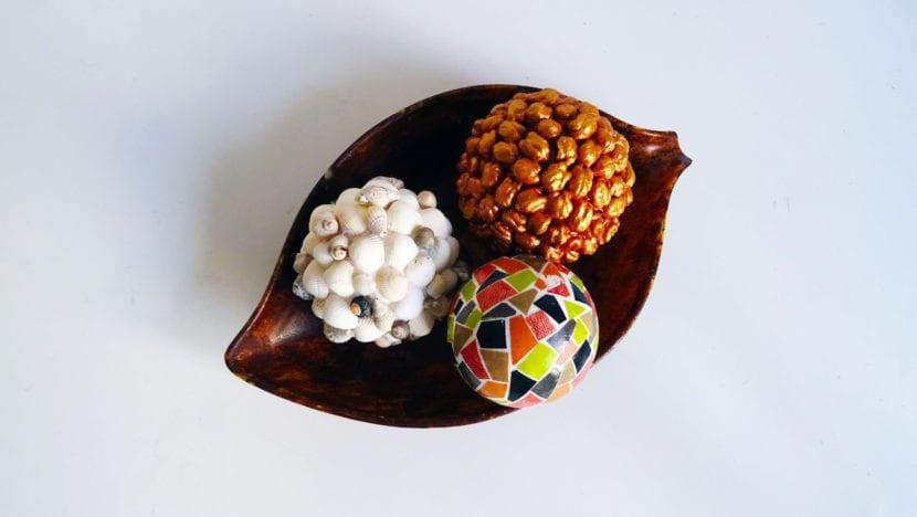 bolas decorativas cuenco