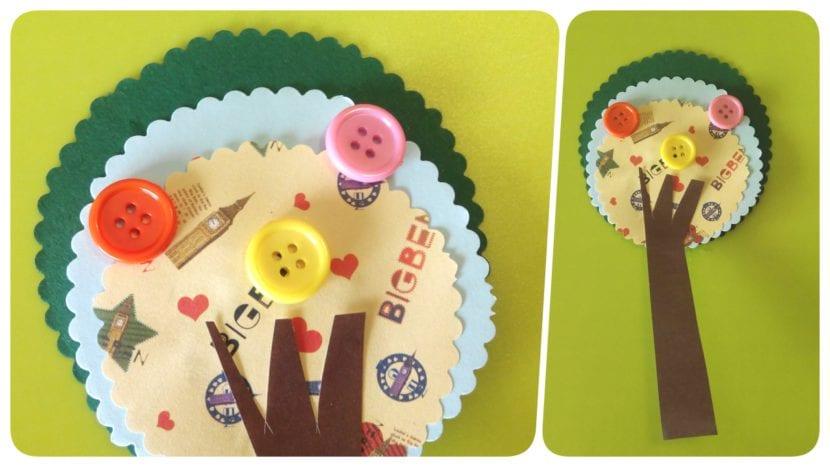 marcapaginas de papel arboles