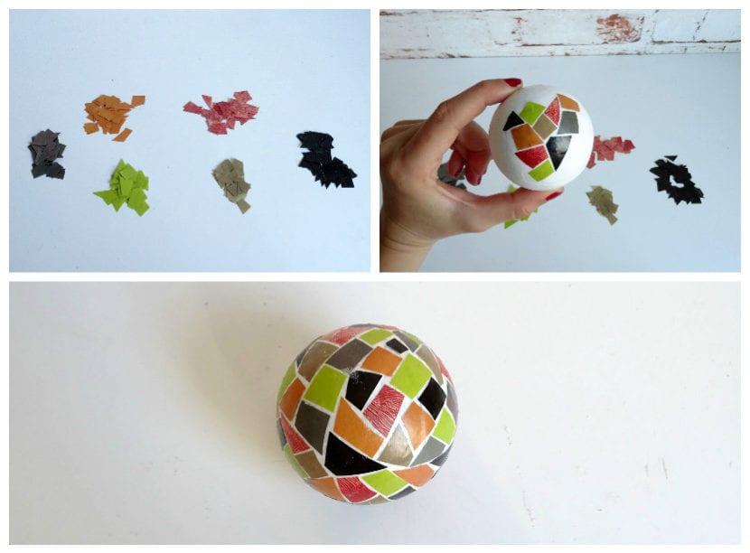 mosaico en bola