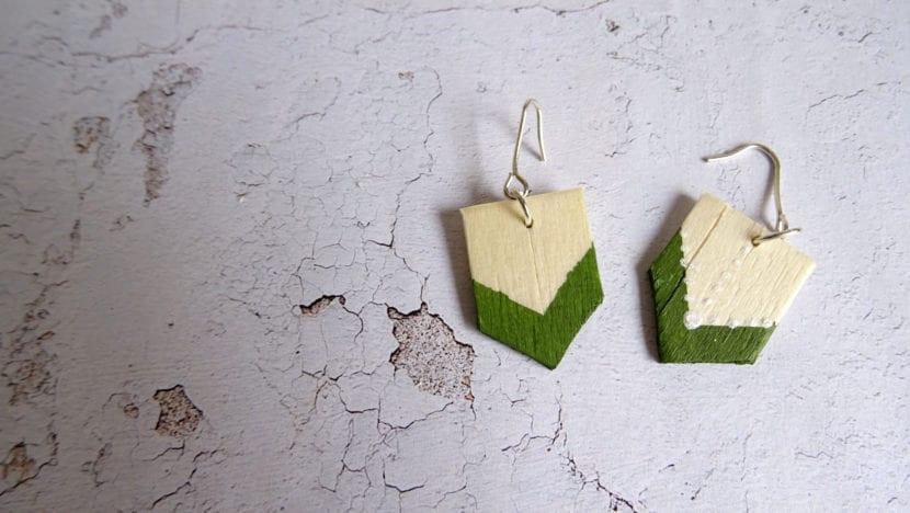 pendientes madera