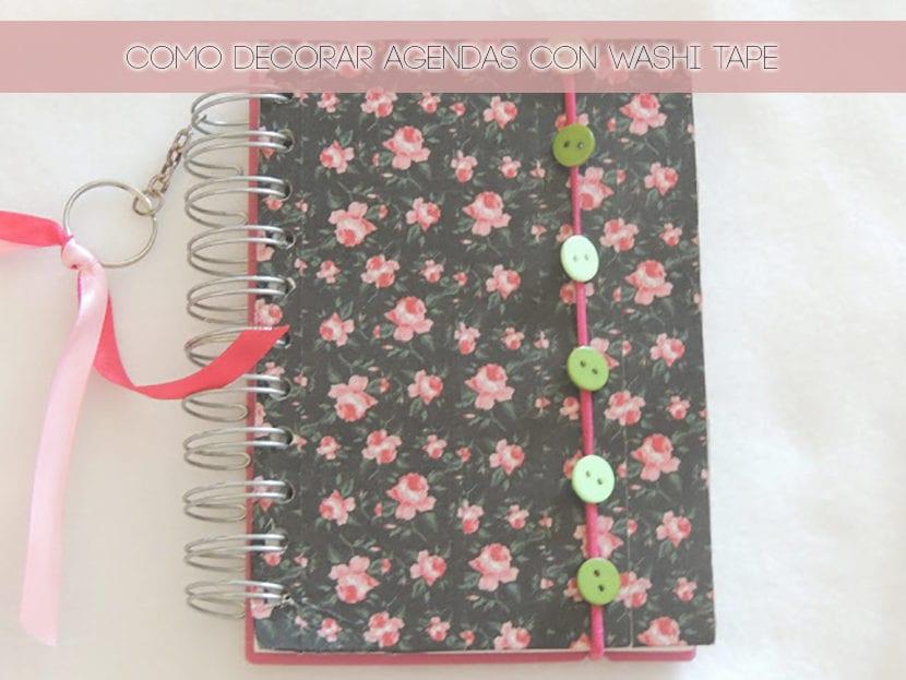 Como decorar agendas usando washi tape