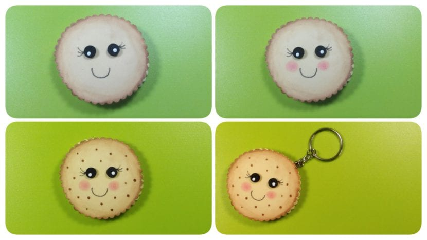 kawaii llavero galleta manualidades