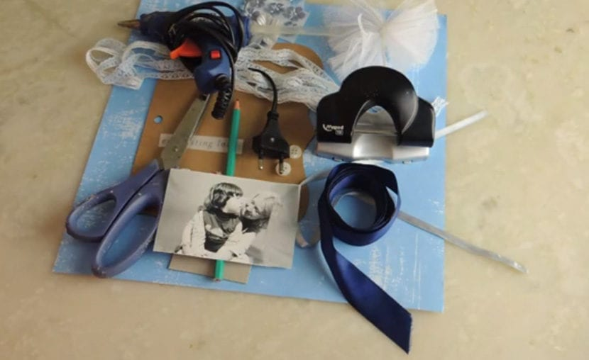 materiales para hacer album scrapbook