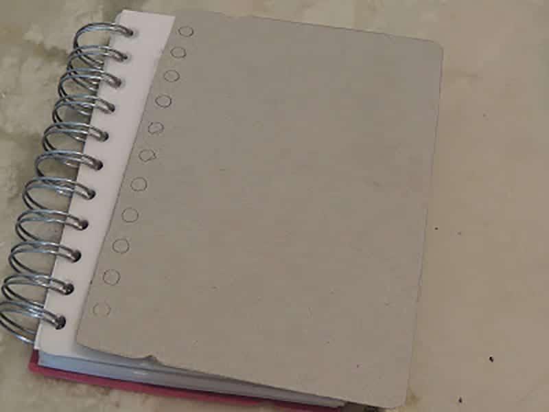 paso 1 decorar agendas con washi tape