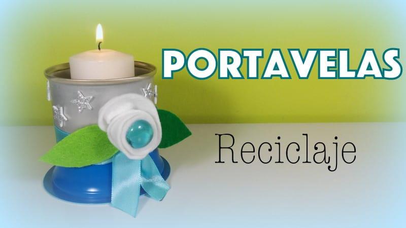 portavelas reciclaje donlumusical latas yogures