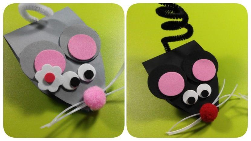 ratones de cartulina y goma eva