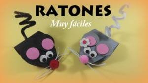 ratones de cartulina y goma eva donlumusical