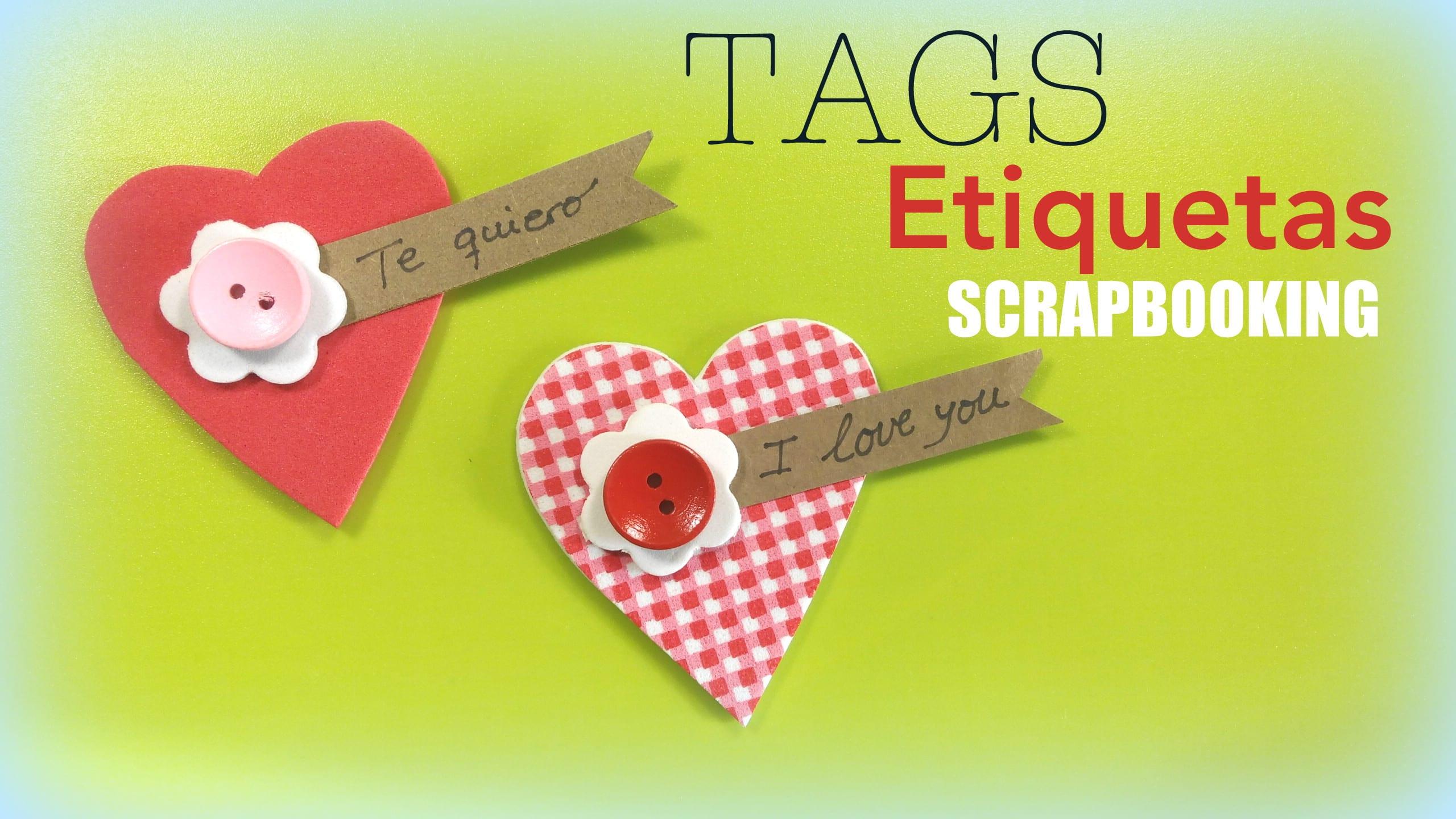 etiquetas tags scrapbooking donlumusical corazones