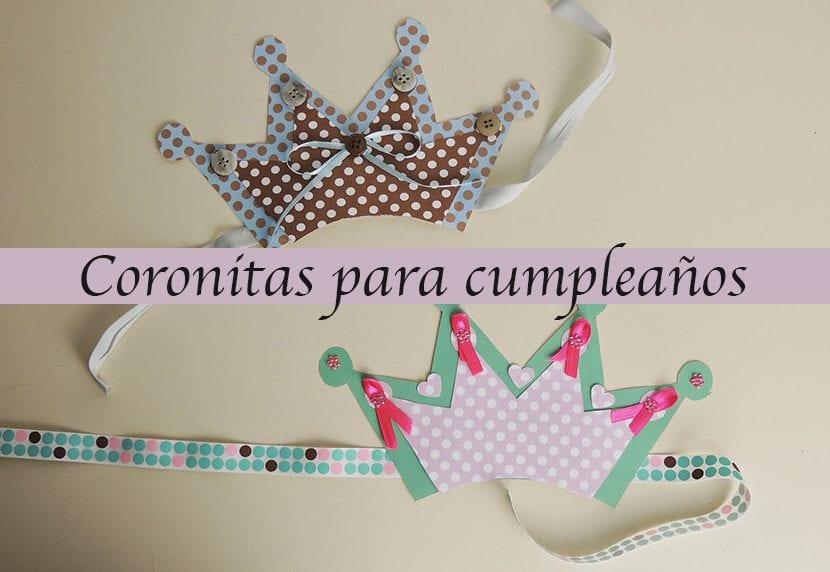 coronitas para cumpleaños infantiles