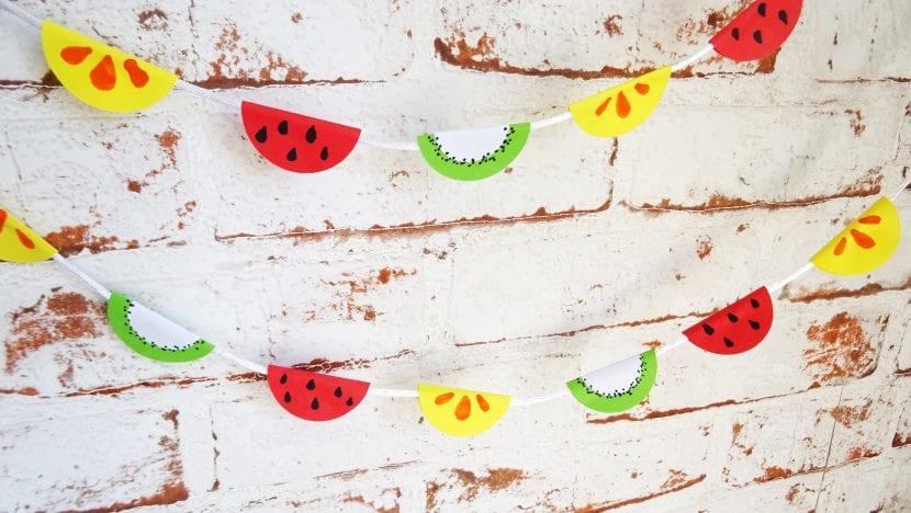 guirnalda frutas