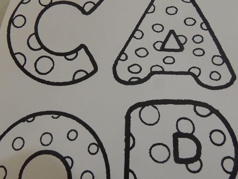 paso 3 cuadro con letras de tela