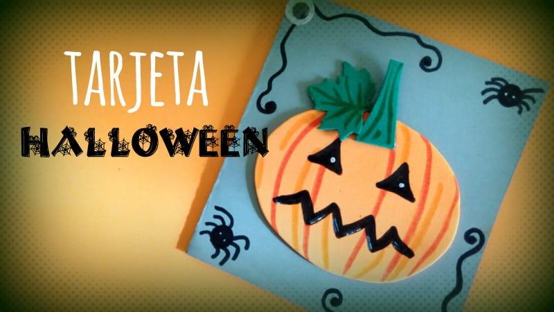 tarjeta halloween calabaza