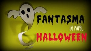 fantasma de papel halloween