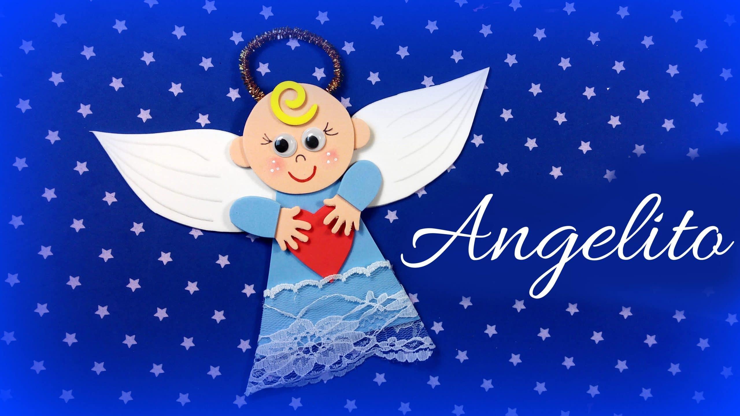 angel navidad goma eva adorno