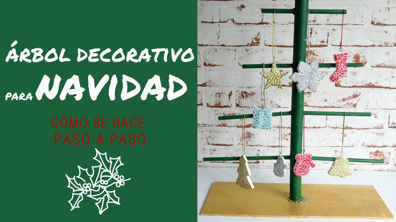 C mo hacer un rbol decorativo de navidad con palitos y cart n - Como hacer un arbol de navidad de carton ...
