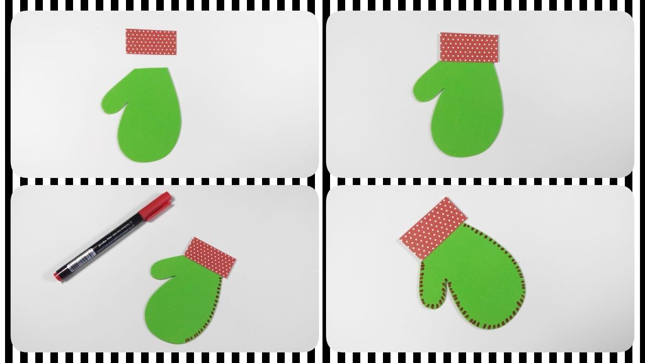 guante navidad manualidades