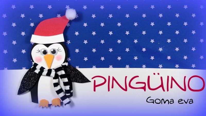 pingüino navidad goma eva