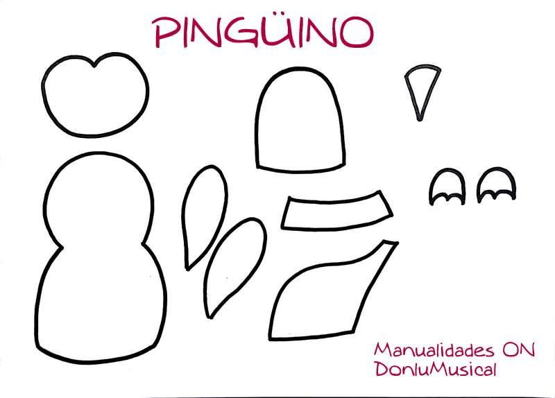 plantilla pinguino goma eva navidad donlumusical