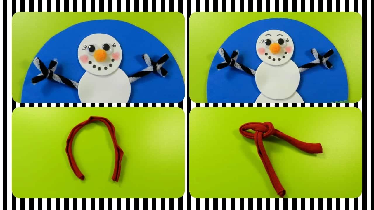 plato navideño muñeco de nieve