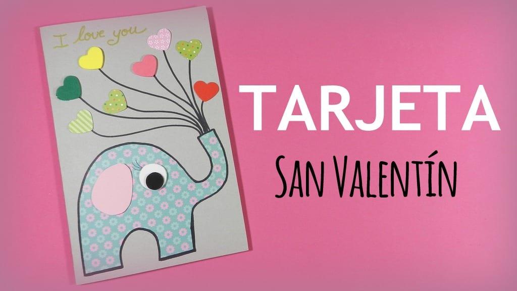 Tarjeta De Elefante Con Corazones Para Regalar En San Valentin