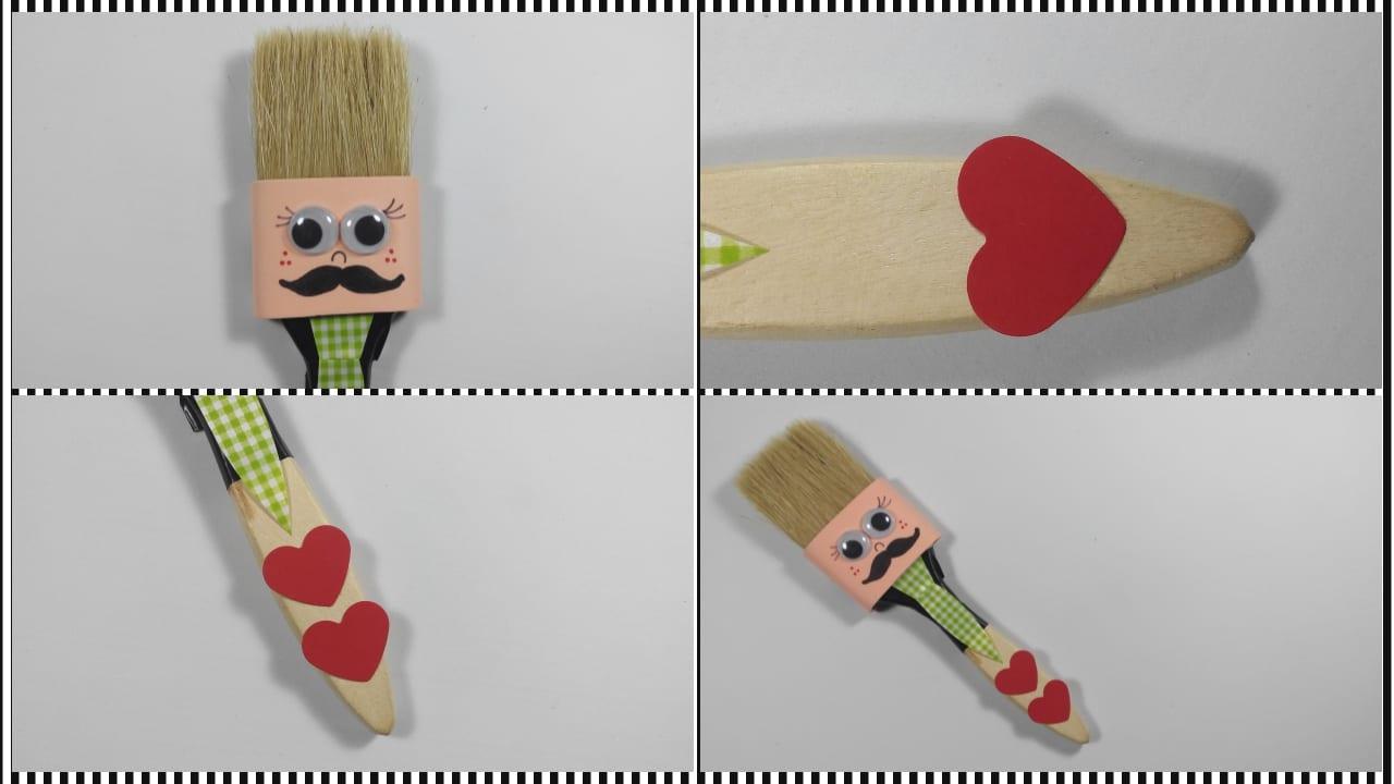 Brocha o pincel con bigote para regalar el d a del padre - Como barnizar con brocha ...