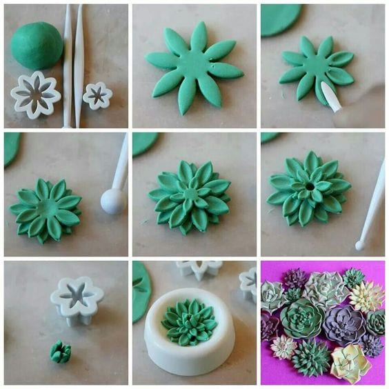 Flores de arcilla polimérica