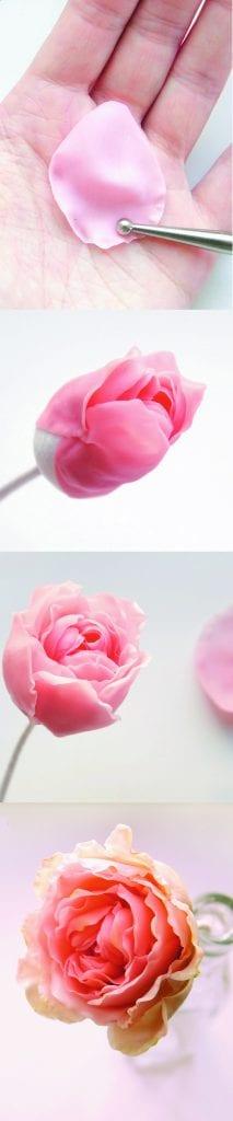Rosa de arcilla polimérica