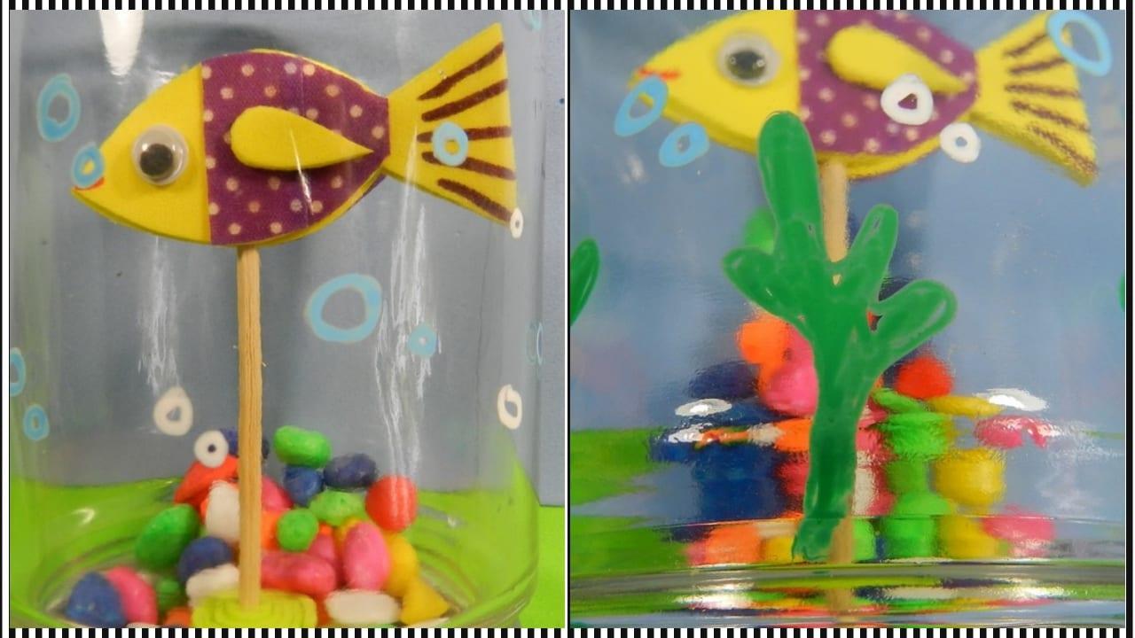 Cómo Hacer Una Pecera Infantil Con Un Frasco De Cristal Manualidades On