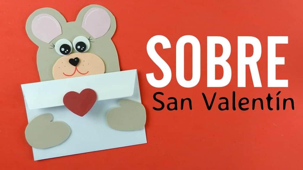 Sobre tarjeta con osito y coraz n para regalar en san valent n - Album para san valentin ...