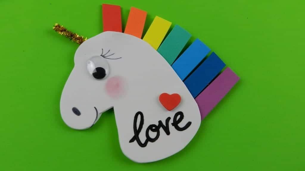 Unicornio Arcoiris Para Decorar Nuestras Manualidades Infantiles