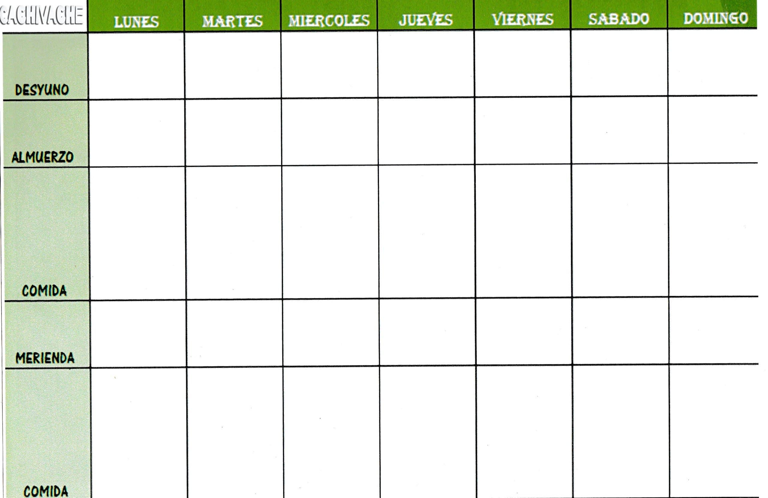 Cómo realizar un menú semanal para organizarse