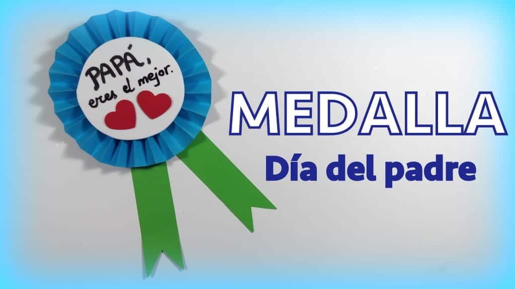 Medalla De Papel Para Regalar El Dia Del Padre Muy Facil