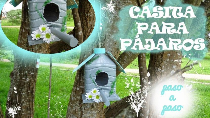C mo hacer una casita para p jaros reciclando botellas de for Casas plasticas para ninos