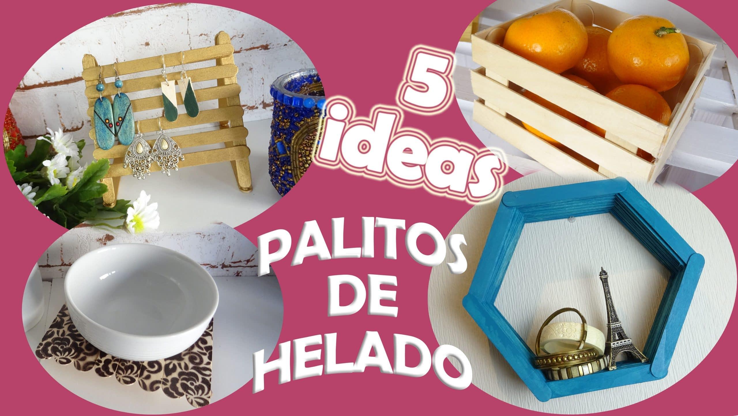 5 ideas decorativas con palitos de helado f ciles for Ideas decorativas economicas