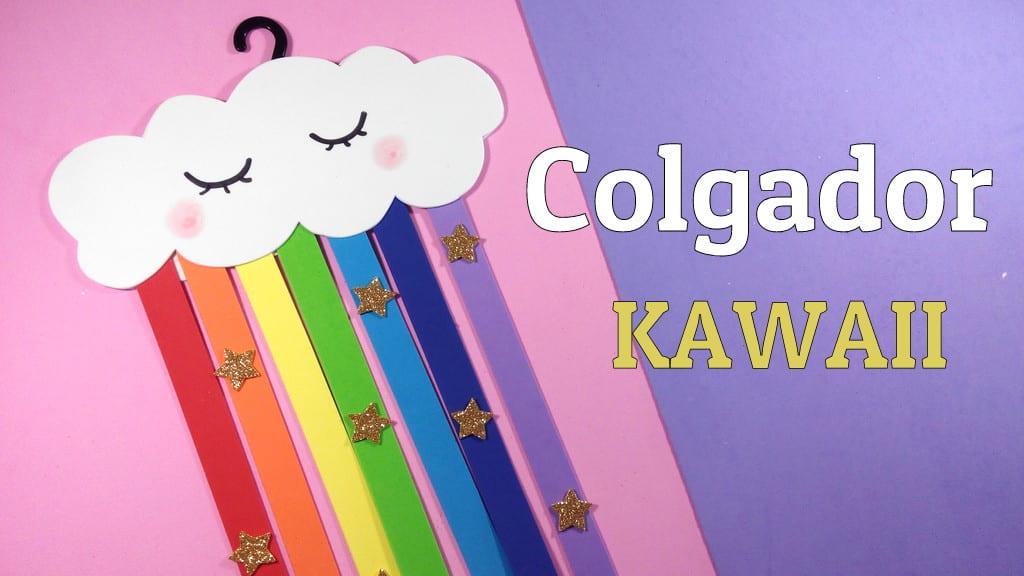 Colgador de goma eva infantil para la puerta con nube kawaii - Colgador de puerta ...