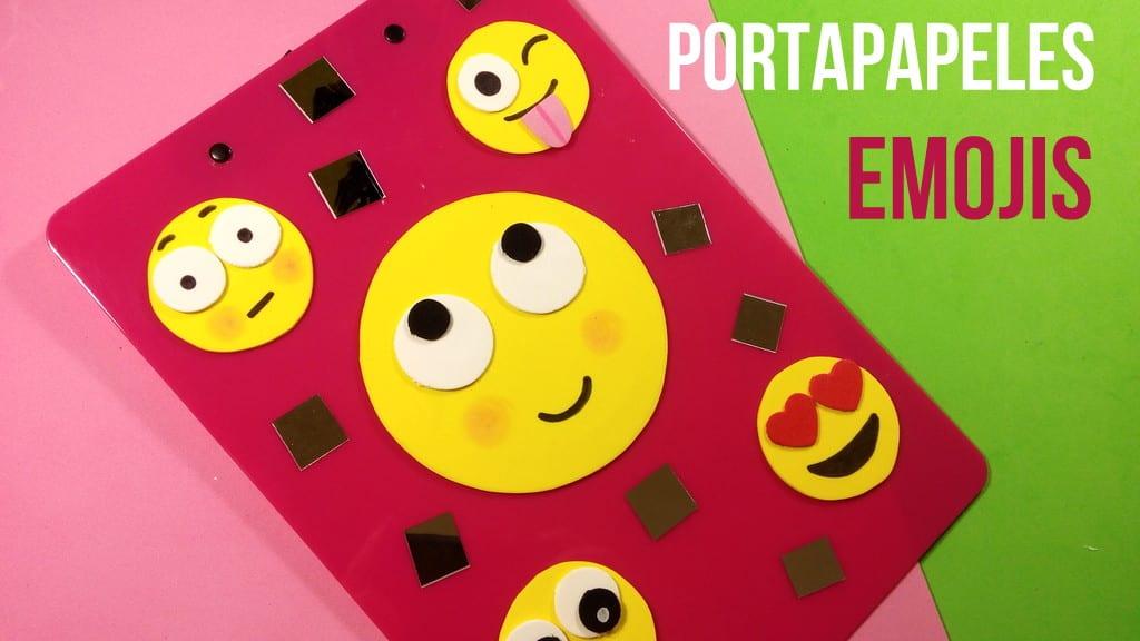 portapapeles de emojis con goma eva para el colegio