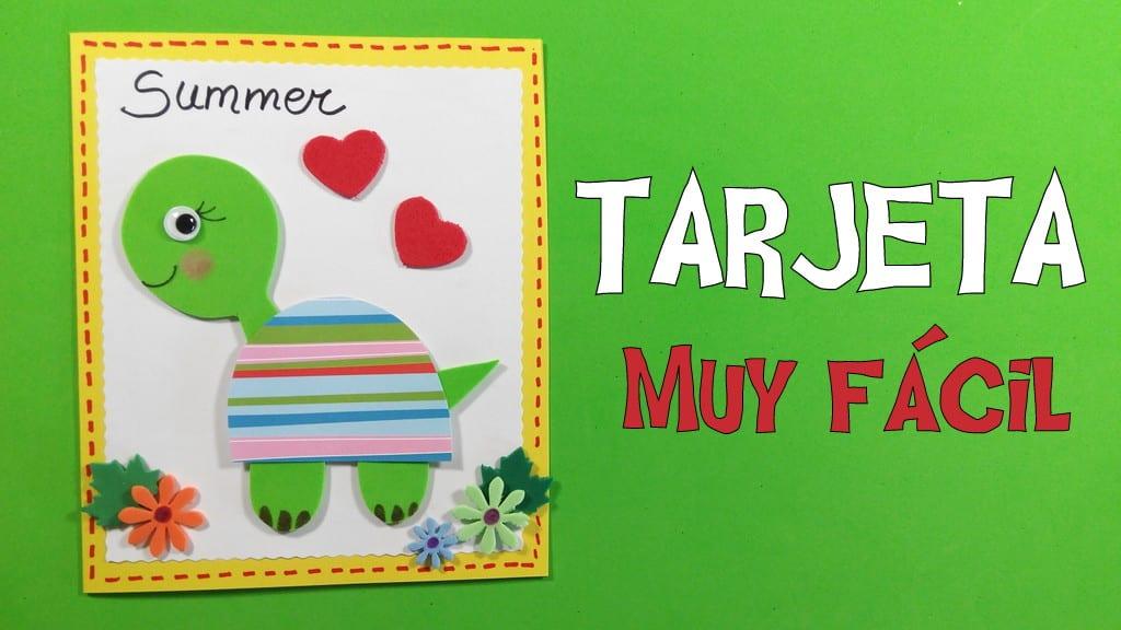 Tarjeta De Tortuga Infantil Para Invitar A Las Fiestas De Verano